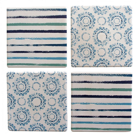 Coasters - Blue Pattern - Set of 4