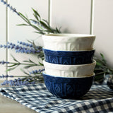 Mason Cash Varisty Prep Bowls Set of 4 - Blue & White