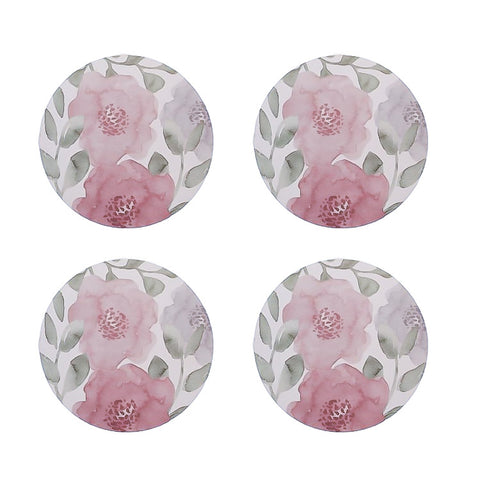Coasters - Peony Blush Round - Set of 4