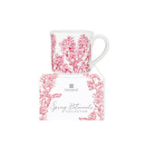 Wide Flare Mug - Spring Botanicals - Red