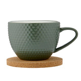 Abode Textured Mug & Coaster Set - Fern