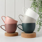 Abode Textured Mug & Coaster Set - Dark Rose