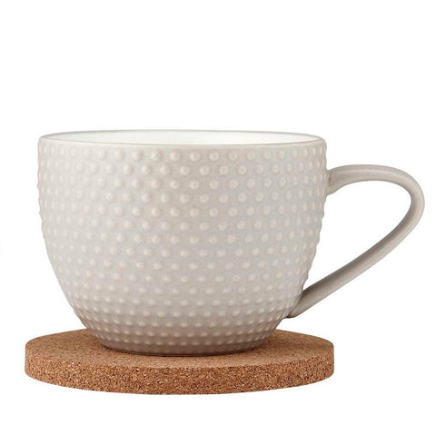 Ladelle Abode Textured Mug & Coaster Set - Stone