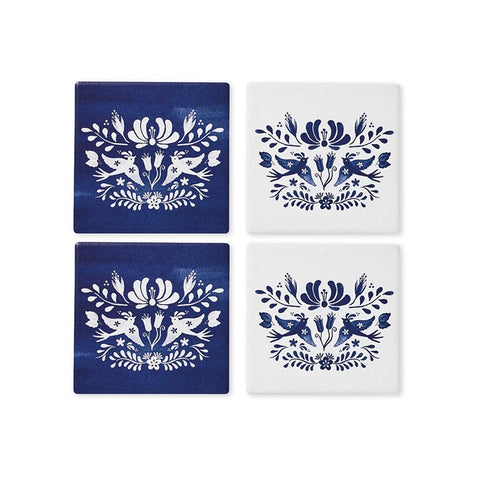 Coasters - Blue Mazarine - Set of 4