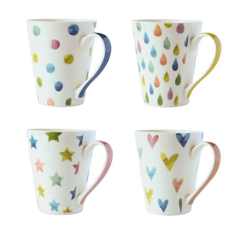 Dream Conical Mugs - Set of 4