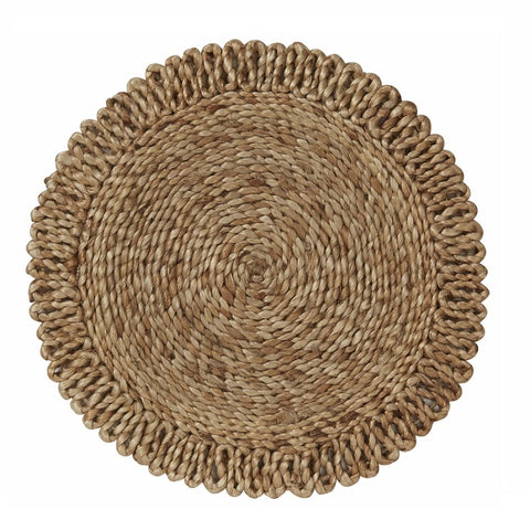 Carrie Round Jute Placemat