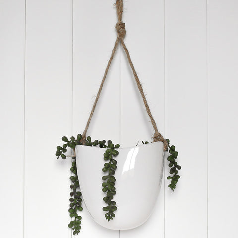 Ceramic Hanging Pot - Tea Drop Curve