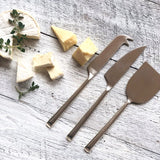 Cheese Knife Set of 3 - Polished Stainless Steel