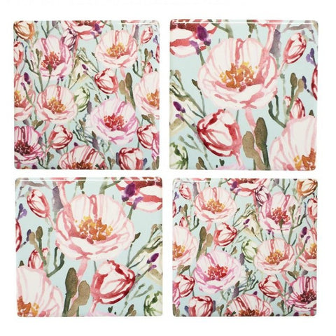 Coasters - Summer Flowers - Set of 4