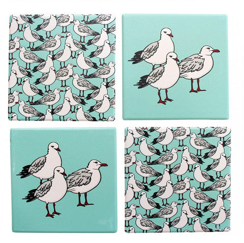Coasters - Seagull Aqua- Set of 4