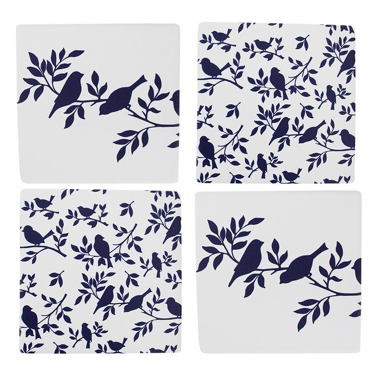 Coasters - Blue Bird - Set of 4