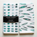 Cotton Linen Tea Towel  - Green
