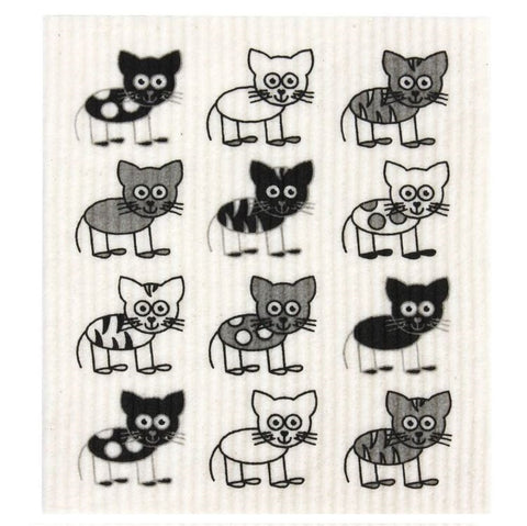 Disposable Dish Cloth - Cat