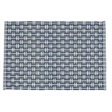 Eden Ribbed Placemats - Navy