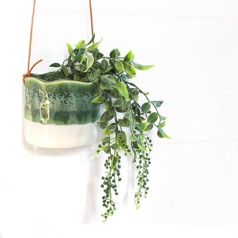 Ceramic Hanging Pot - Wave