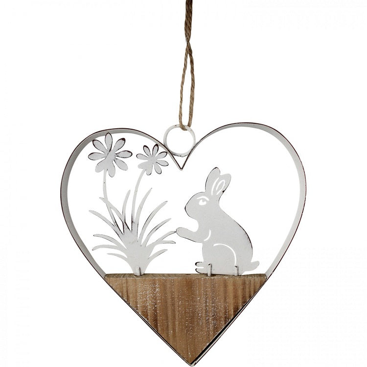 Hanging Heart Rabbit Daisy