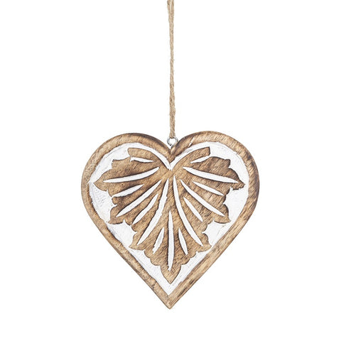 Wooden Heart Love Charm