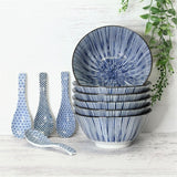Japanese Bowls - Blue & White Pinstripe - Sold Separately