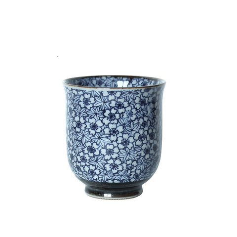 Japanese Tea Cup - Maple Blossom Blue