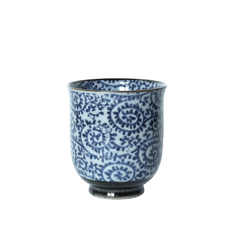 Japanese Tea Cup - Spiral Blue