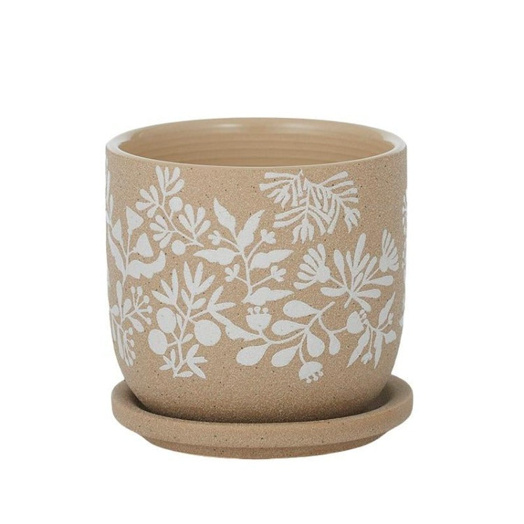 Lyla Ceramic Pot with Saucer