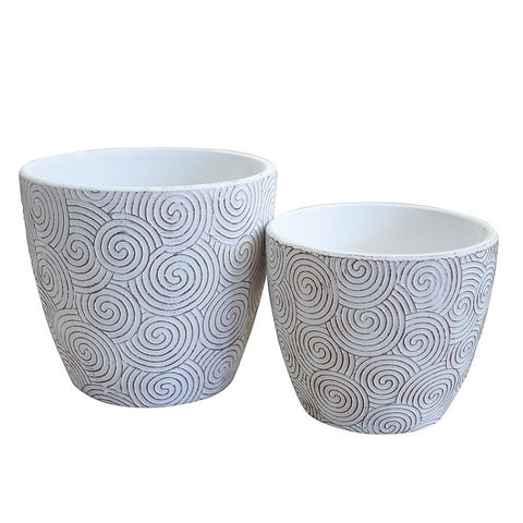 Planter Pots - Spirals 2 piece set