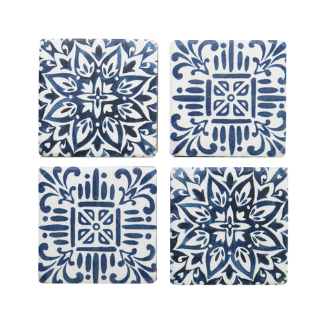 Coasters - Blue Moroccan Tiles- Set of 4