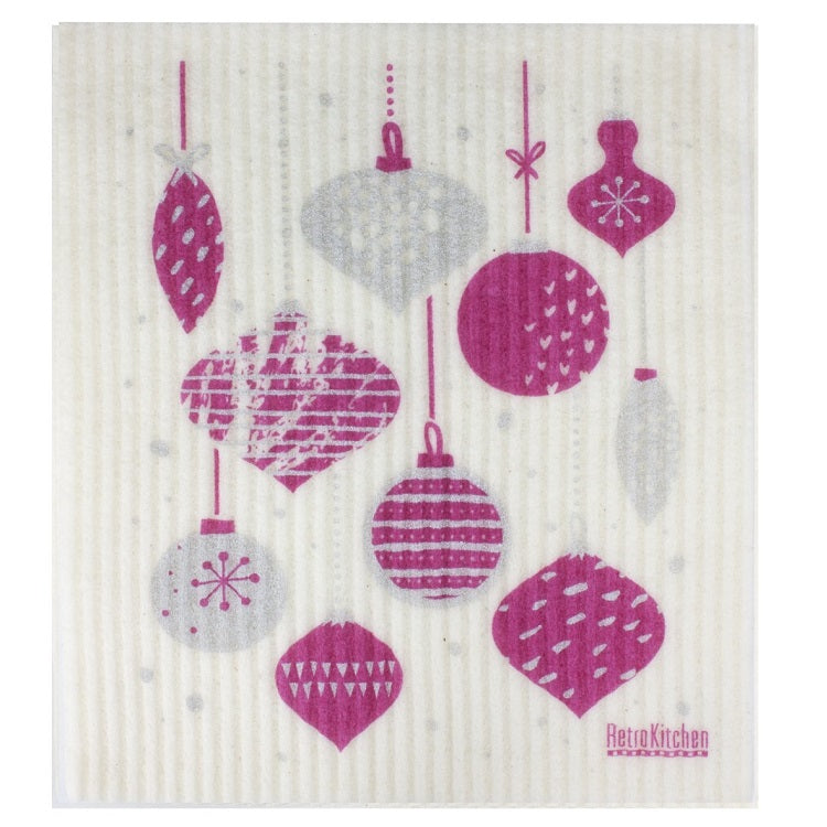 Dish Cloth - Christmas Baubles