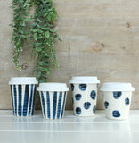 Carousel Cup - Indigo Brush Stripe - Large