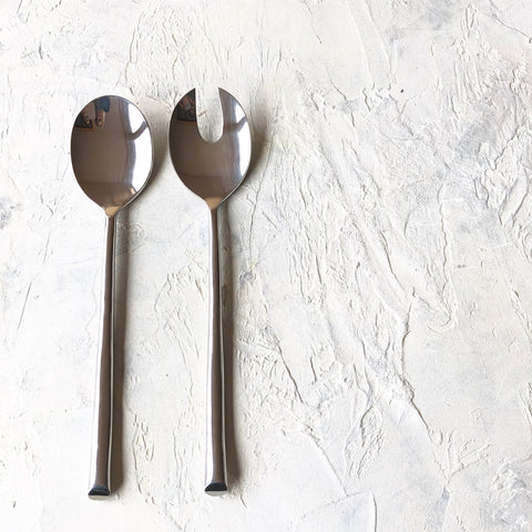 Salad Servers - Polished Silver