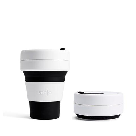 Stojo Pocket Coffee Cup - Black 355ml