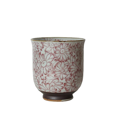 Japanese Tea Cup - Sunflower Red