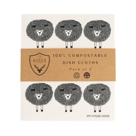 Dish Cloth - Snoozy Sheep - Set of 2