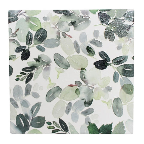 Green Foliage Ceramic Tile Trivet