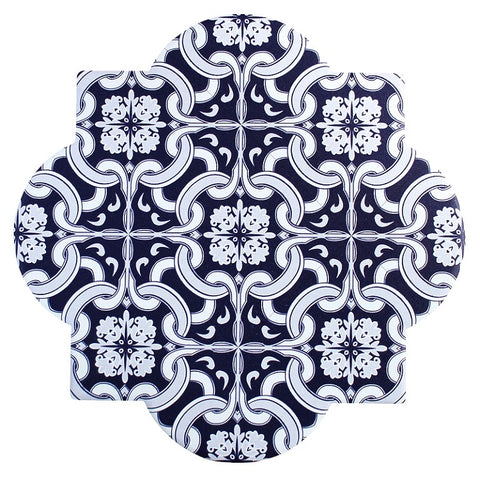 Saratoga Ceramic Tile Trivet - Blue & White