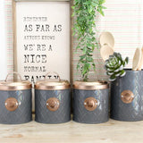 Typhoon Henrik Canisters - Grey/Copper Set of 3