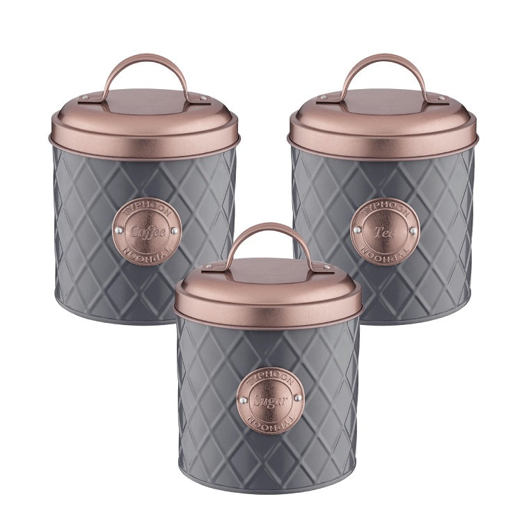 typhoon Henrik tea coffee sugar canister set