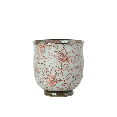 Japanese Tea Cup - Kusa Red