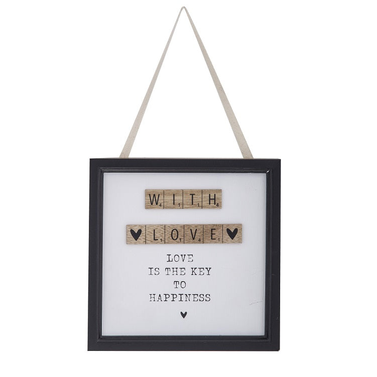 With Love Hanging Wall Decor