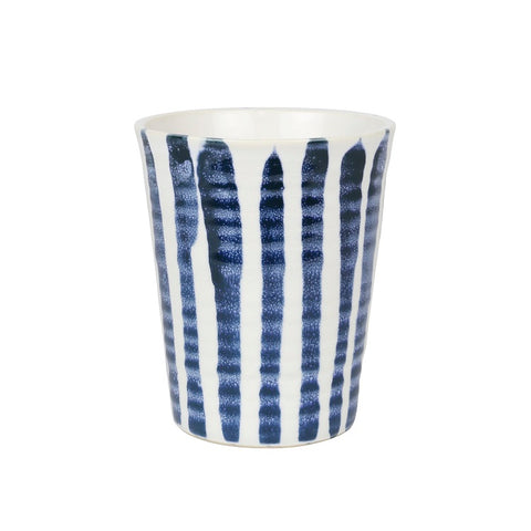 Robert Gordon Carousel Cup - Indigo Brush Stripe - Large