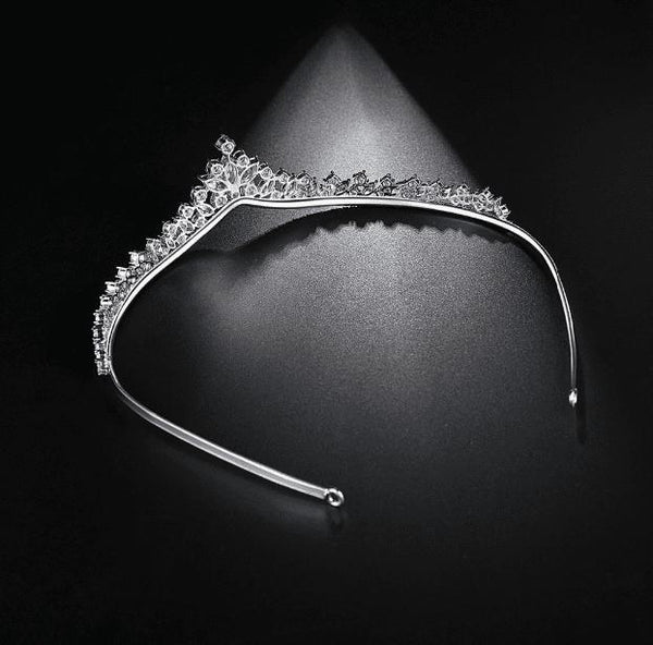Alicia Simulated Diamond Tiara