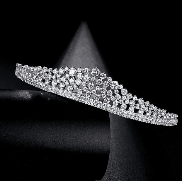 New York Simulated Diamond Tiara-Starlet Jewellery