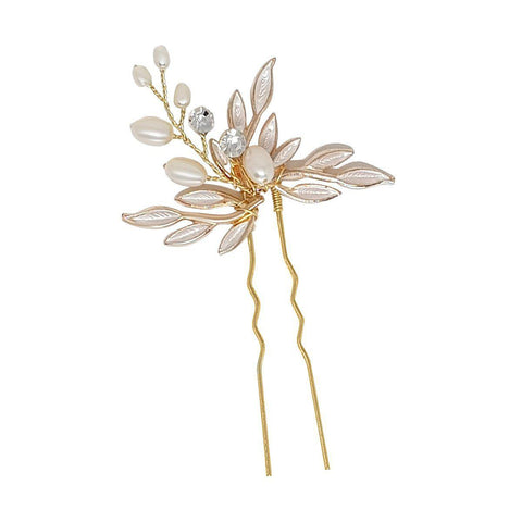 Firenza Freshwater Pearl Hairpin-Hair pins-Starlet Jewellery