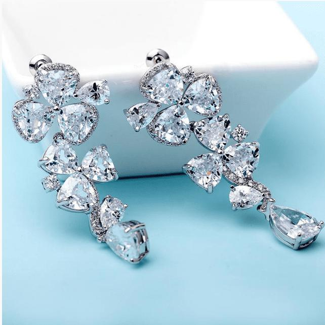 Manhattan Cubic Zirconia Earrings-Starlet Jewellery