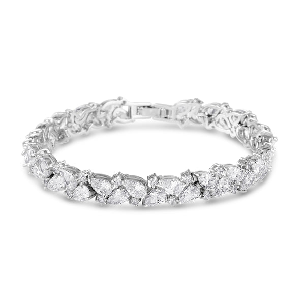 Abbie Simulated Diamond Bracelet-Bracelets-Starlet Jewellery