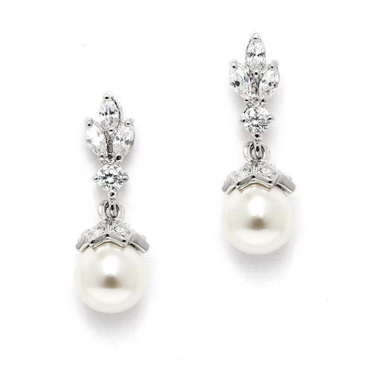 Acacia Pearl wedding Earrings - Olivier Laudus Wedding Jewellery
