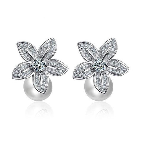 Adele Pearl earrings-Earrings-Starlet Jewellery