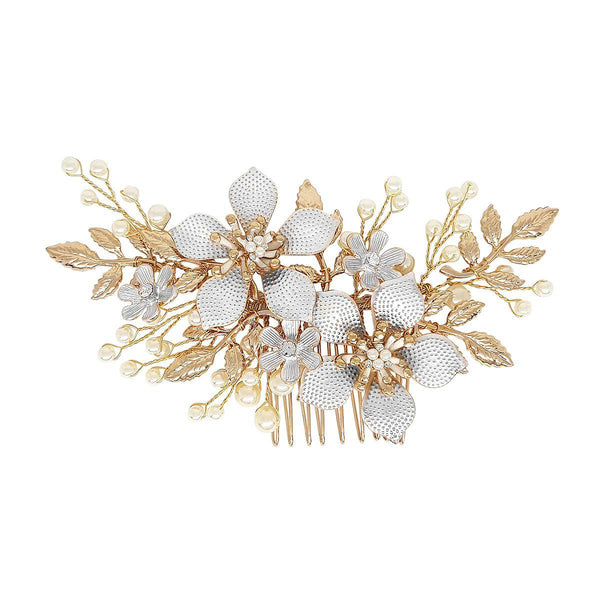 Alessia Gold Hair comb-Starlet Jewellery