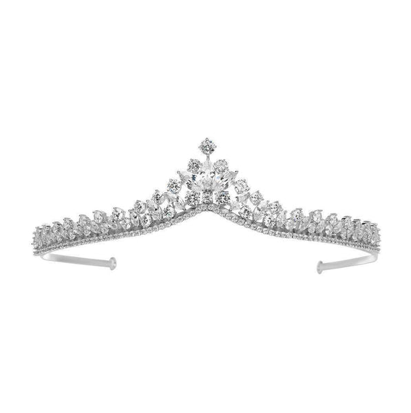 Alicia Simulated Diamond Tiara-Starlet Jewellery