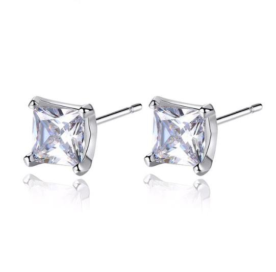 Alicia Cubic Zirconia Stud Earrings